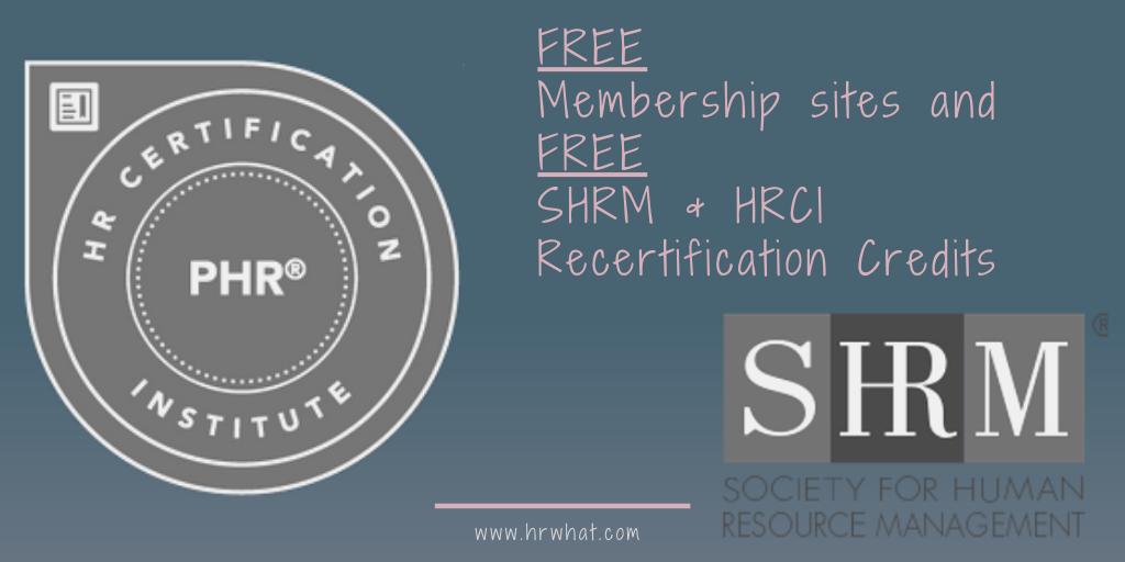 FREE SHRM & HRCI Credits